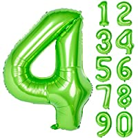 40 Inch Green Large Numbers 0-9 Birthday Party Decorations Helium Foil Mylar Big Number Balloon
