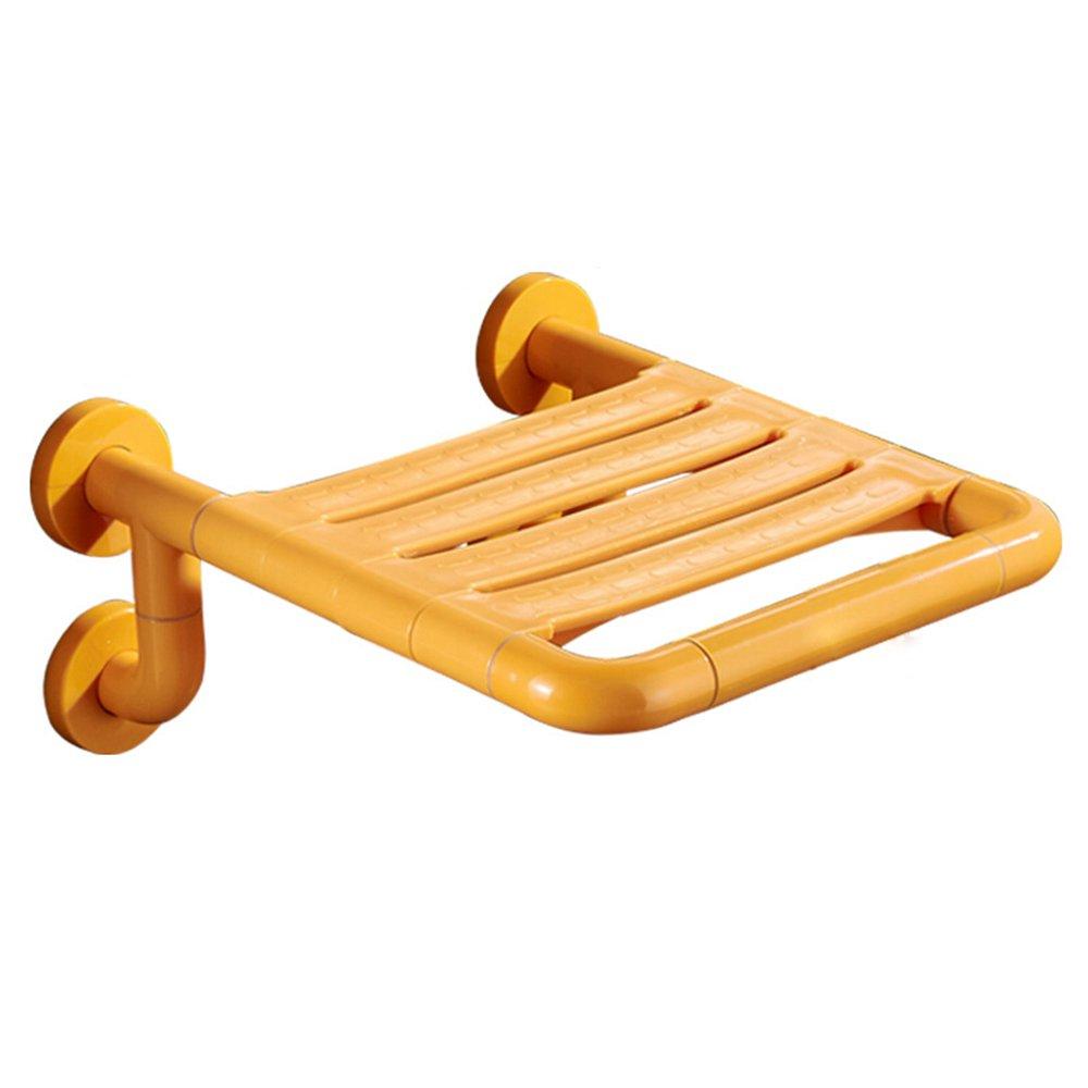 Shariv-シャワーチェア 黄色のシャワーの壁の椅子/バスルームシニアバスの椅子/妊婦の身体の不自由な浴室の壁のスツール/靴のチェンジチェア/32ミリメートルステンレス鋼の直径の壁の椅子/負荷することができます200KG/315 * 380 * 35ミリメートル B07DK5LBCL