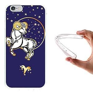 WoowCase - Funda Gel Flexible { iPhone 6 6S } Horóscopo Signo del Zodiaco Aries Carcasa Case Silicona TPU Suave