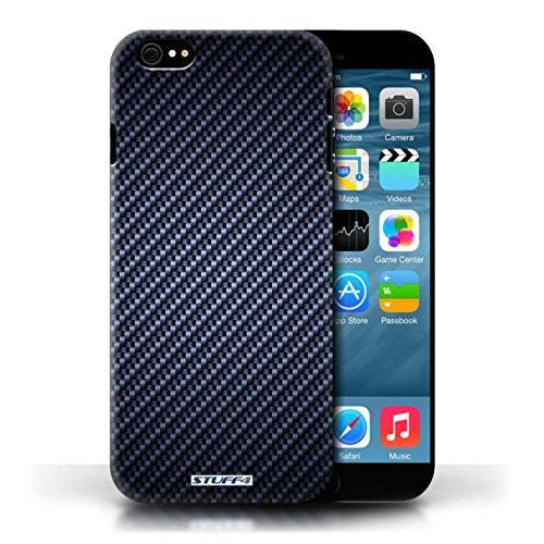 Etui pour Apple iPhone 6/6S / Bleu conception / Collection de Motif de Fibre de Carbone