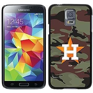 Houston Astros - Traditional Camo design on a Black Samsung Galaxy S5 Thinshield Case