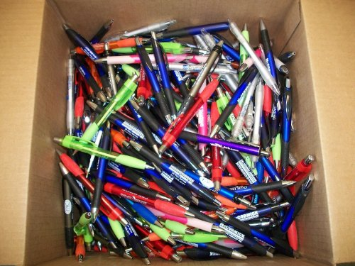 500 Wholesale Lot Misprint Ink Pens, Ball Point, Plastic, ()