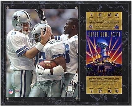 Dallas Cowboys Super Bowl XXVII Troy Aikman Michael Irvin Emmitt Smith  Plaque with Replica 298dfa5f1