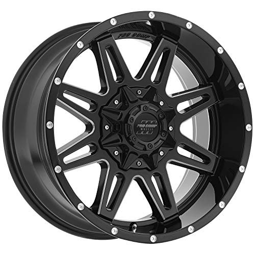 Pro Comp Wheels 8142-29582 Xtreme Alloys Series 8142 Gloss Black/Machined Finish Size 20x9.5 Bolt Pattern 8x6.5 in. Back Space 4.75 in. Offset -6 Max Load -