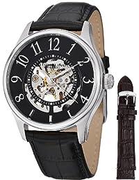 Stuhrling Original Men's 746L.SET.02 Classic Delphi Solaris Automatic Skeleton Black Dial Strap Watch Set