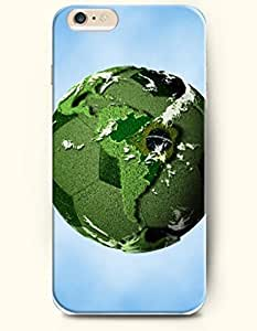 SevenArc Phone Case for iPhone 6 Plus 5.5 Inches with the Design of Soccer covered with Green Grass-Earth