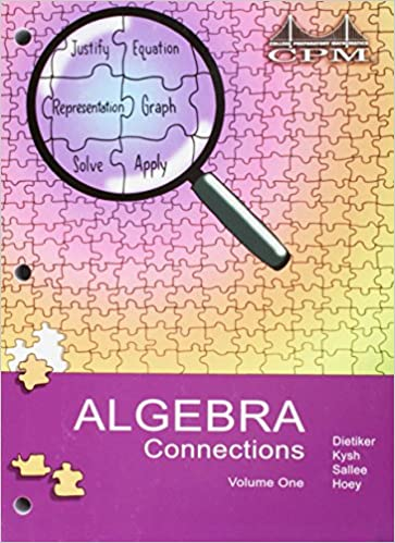 Algebra connections volume 1 cpm unknown 9781931287456 amazon algebra connections volume 1 cpm 3rd edition fandeluxe Choice Image