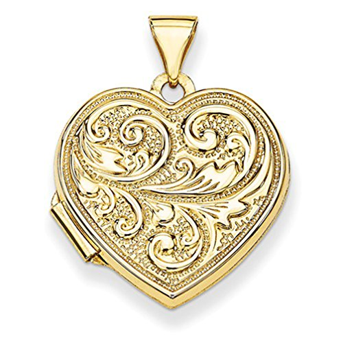 14k Yellow Gold ''Love you always'' Heart Locket by The Men's Jewelry Store (for HER)