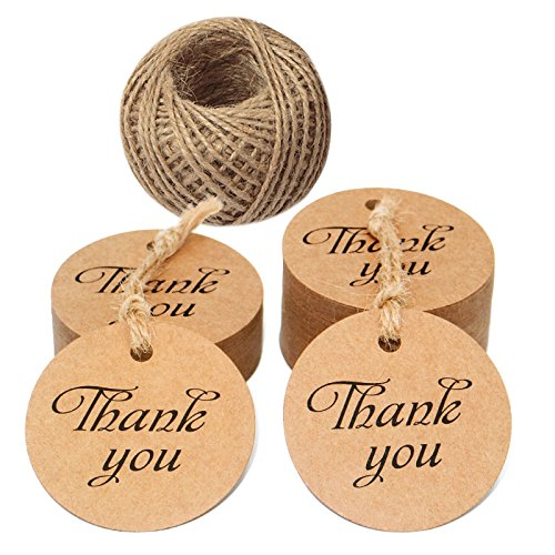 Vintage Tags Valentine - 100 PCS Kraft Paper Tags with