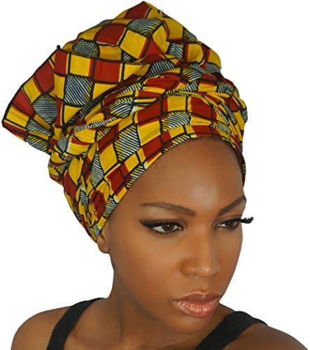 7eed43b52da The Urban Turbanista Head Wrap -Extra Long African Wax Print Headwrap Scarf  Tie