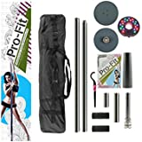 Pro-Fit Professional Portable Spinning Dance Pole with attachable LED Dance Light and Carry Bag