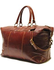 Floto Luggage Capri Duffle, Vecchio Brown, Large