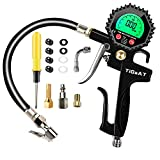 Best Bike Tire Gauges - TiGaAT Digital Tire Inflator Pressure Gauge,200 PSI Tire Review