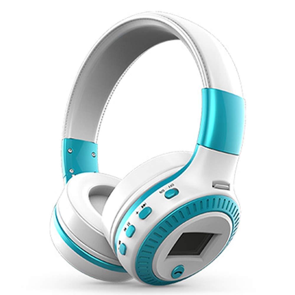 ヘッドセットワイヤレスBluetoothヘッドセットヘビーベース高音質インテリジェントノイズリダクションスポーツユニセックス18 * 16.4 cm (Color : Blue, Size : 18*16.4cm)   B07R7KHB74