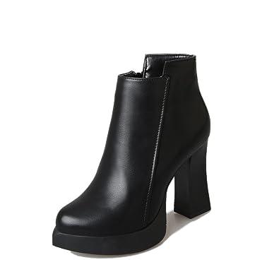 LHWY Damen Stiefel mit Absatz Winter High Heel Stiefel