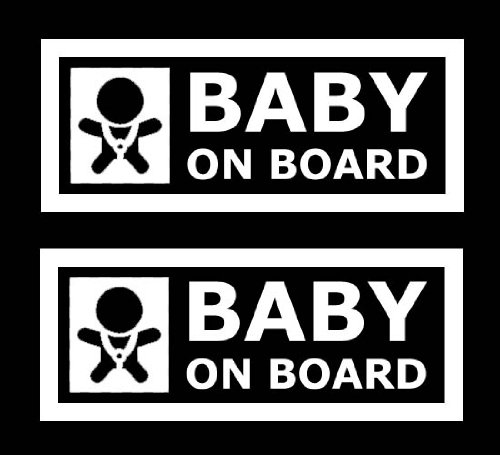 iJDMTOY (Pack of 2) JDM Style Baby On Board Safe Warning Die-Cut Decal Vinyl Stickers