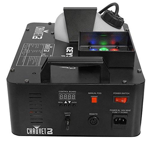 CHAUVET DJ Geyser RGB Jr. Compact Vertical Fog Machine w/Built-In LED Effect Lighting & Wireless Remote (Dj Fog Machine)