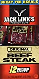 Jack Link's Premium Cuts Beef Steak, Original, 1-Ounce (Pack of 12)