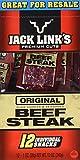 Jack Links Premium Cut Original Beef Steak Jerky 12 Individual Packs - 1 Oz each