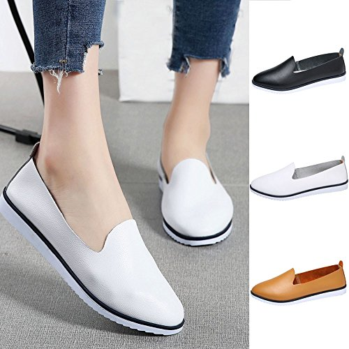 Flats Casual Shoes Nero Mocassini Di Slip Donne Sandali Lazy Comodi Theshy Loafers In On Scarpe Modo Donna Pelle Leisure Eleganti Comode 8ZHRU