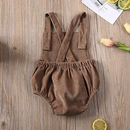 514jeiGbZBL. AC - Moore-Direct Infant Newborn Baby Girl Corduroy Bandage Solid Color Bodysuit Romper Playsuit Clothes