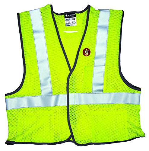 MCR Safety FRMCL2MLXL Class 2 Safety Vest with Mesh Flame Retardant Modacrylic/Aramid Blend and 2