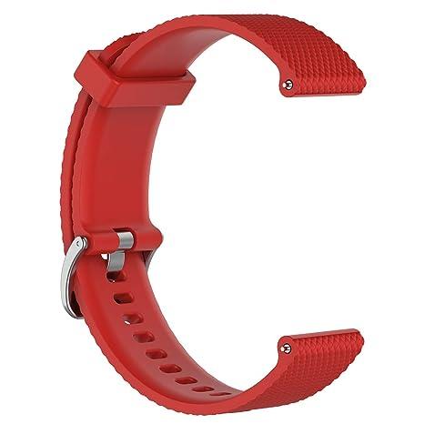 Sunhoyu Correa de repuesto para Polar Vantage M Smartwatch, correa de silicona ajustable flexible reloj deportivo accesorio para Polar Vantage M ...