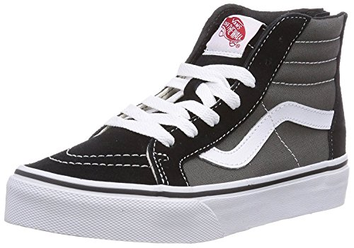Vans Youth PS Little Kids SK8-Hi Zip Fashion Sneakers Black/Charcoal, - Van Zipper