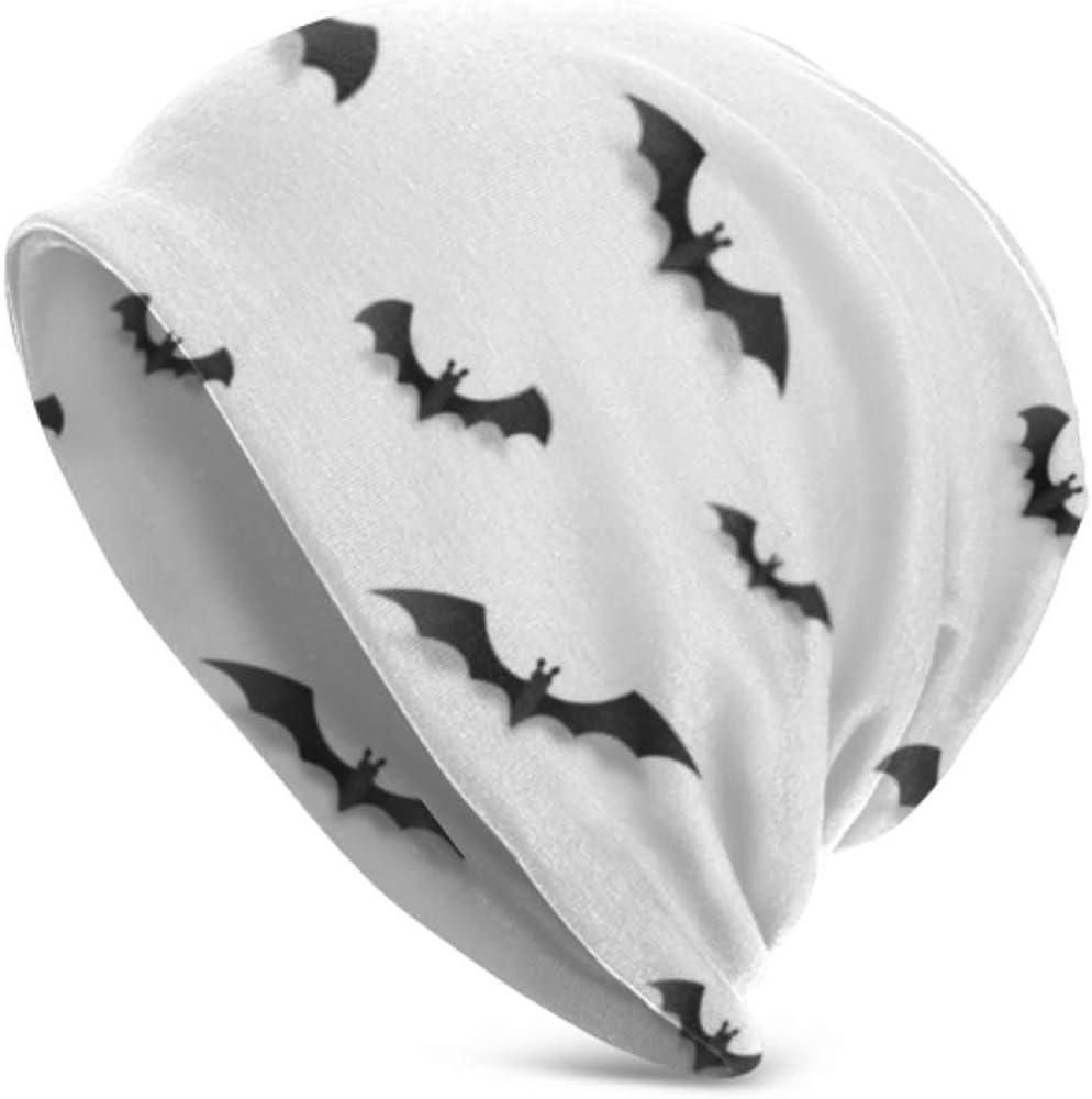 Gorros Beanie para Hombres y Mujeres - cálido, Negro Estilo de Papel Vector Halloween Bats Slouchy Beanie Cap Gorro Resistente, Gorro elástico Suave Beanie Todo el año Comodidad