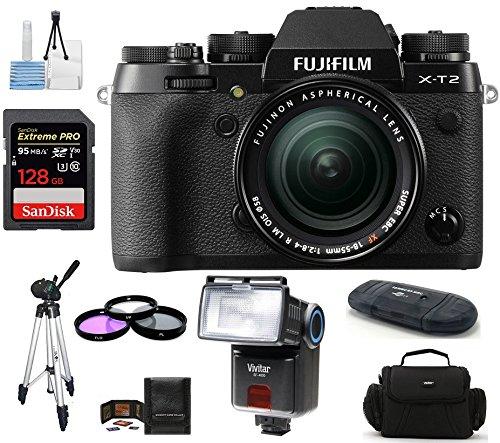 Fujifilm X-T2 Mirrorless Digital Camera with 18-55mm Lens Bu