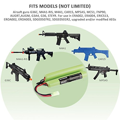 Masione-96V-NiMH-1600mAh-Butterfly-NunChuck-Mini-Battery-with-Mini-Tamiya-Connector-for-AEG-Airsoft-Guns
