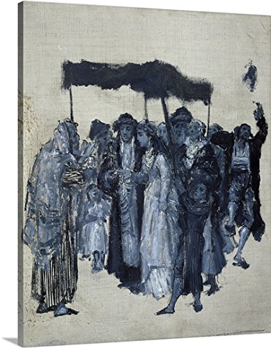 Jewish Huppa (Wedding) 1876 Gallery-Wrapped Canvas#VARIATIONS