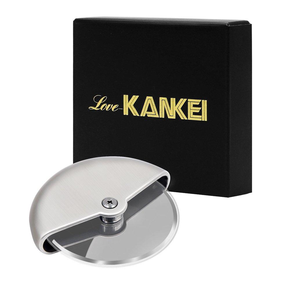 Love-KANKEI® Roulette à Pizza Découpe-Pizza En Acier Inoxydable Avec la Poignée Antidérapant S'adapte au Lave-Vaisselle Nettoyage Facile product image