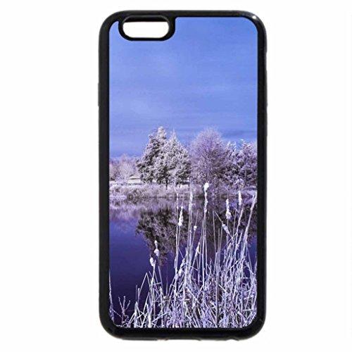 iPhone 6S Plus Case, iPhone 6 Plus Case, purple lake in winter
