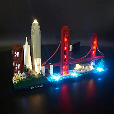 WXX Lego Compatible LED Lighting Kit for San Francisco Buildings is The for Children and Adults at Christmas Parties (No Building Blocks): Home & Kitchen
