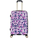 Aimee Kestenberg Women's Malibu 24'' Printed Abs and Pc Film Expandable 8-Wheel Upright Pullman, Pink