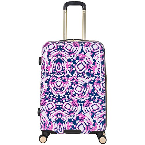 Aimee Kestenberg Women's Malibu 24'' Printed Abs and Pc Film Expandable 8-Wheel Upright Pullman, Pink by Aimee Kestenberg