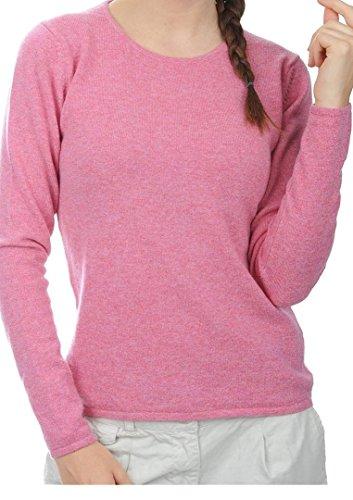 Balldiri 100% Cashmere Kaschmir Damen Pullover Rundhals 2-fädig rosa XS