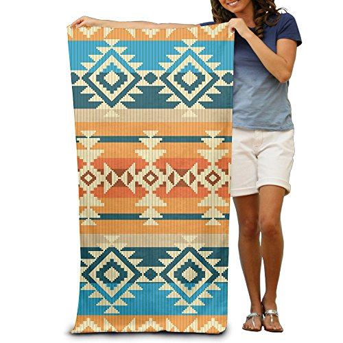 Super Absorbent Beach Towel Mexican Decorative Pattern Polyester Velvet Beach Towels 31.551.2 Inch by Summer Park