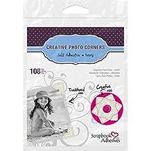 3L 01629-MP Scrapbook Adhesives Self Creative Paper Photo Corners, Ivory, 108 Pack, Set of 10