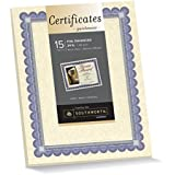 Southworth Ivory Parchment Foil-Enhanced Certificates, 8.5 x 11 Inches, Blue Ink and Silver Foil Border, 15 Count (CT1R)