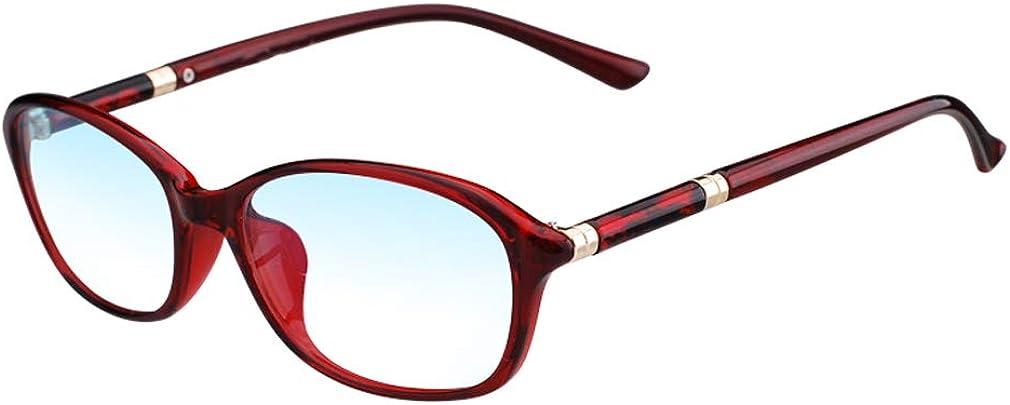 Gafas de Lectura,HD Con Estilo Elegante Gafas de Dama,Ligero Cómodo Gafas Sol,Luz Anti-Azul,Película de Agua de Hoja de Loto Lente,Alta Transmitancia,Anti Fatiga