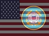 Cheap Coast Guard Poster Coast Guard Flag Us Flag American Flag 18X24 (FLAGUSA-23)