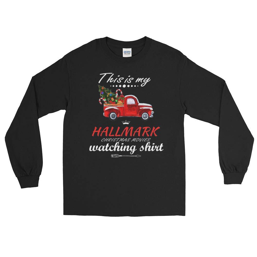 Watching Hallmark Movies Christmas Longshirt This is My Hallmark-Chirtmas Movie Watching Long Shirt