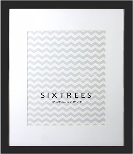 8 by 10-Inch SIXTREES Logan 2 Black Matted Frame