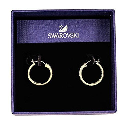 Swarovski Somerset Small Hoop Pierced Earrings, gold-plated