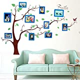 Photo frame collage Creative magnetic photo wall stickers growing tree children room photo frame combination wall decoration ( Color : Blue )