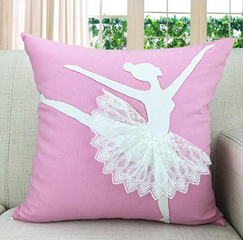 Jooyi® 18 X 18 Inch Cotton Linen Durable Cute Miss Ballet Home Lifeful  Square Decorative