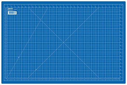 Pavo 8002931 A1 Schneidematte Schneideunterlage, 900 x 600 mm, blau