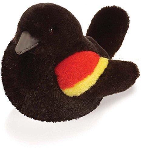Authentic Sounds - Red Winged Blackbird - Audubon Plush Bird (Authentic Bird Sound)